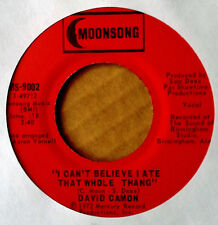 FUNK 45 - DAVID CAMON - I CAN'T BELIEVE I ATE THE WHOLE THING - MOONSONG - 1972