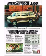 1983 Dodge Mini Ram Wagon Van Vtg Print Ad