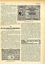 Die erste deutsche Kolonialbanknote (Deutsch-Ostafrikanische Bank) c.1905