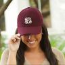 LADIES WOOL BLEND BASEBALL CAP / HAT-FREE PERSONALIZED MONOGRAM - WINE