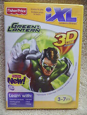 New Fisher Price iXL Learning System Green Lantern Game with 3D Games & Glasses