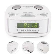 STEREO UKW MW UHRENRADIO RADIOWECKER DUALALARM SLEEPTIMER LCD DISPLAY WEISS AUX