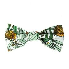 PEGGY AND FINN Banksia Grey Fabric Bow Tie - Brand New