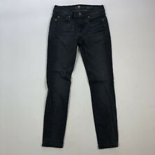 7 For All Mankind The Skinny Jeans Size 24 Gray Stretch Fit