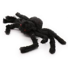 9x30cm Halloween Big Fake Spider Plush Black Horrible Furry Joking Toys Party