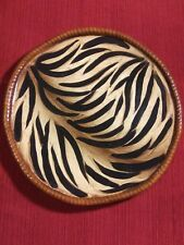 *Home interiors*Safari plate* Discontinued*Brown/black/Beige*