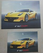Ferrari F12tdf Big Presentation Card Karte 2015 no brochure prospekt book press
