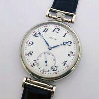 Rare Big Swiss ANTIQUE Mens  Marriage luxury Wristwatch DOXA with Enamel Dial