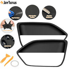 Leather Door Panel Insert Cards Cover for Ford Mustang 2005-2009 Black 1 Set