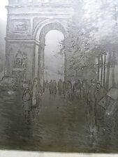 PARIS -3 PLAQUES GRAVÉES -  ECOLE FRANÇAISE VERS 1950 - POUR TIRAGES EAUX FORTES