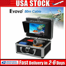 "US! 50m Underwater 7"" TFT LCD Video Camera 1000TVL Fishing Fish Finder+Battery"