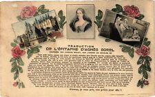 CPA  Traduction de l'Épitaphe d'Agnés Sorel ....   (181774)