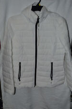 Nautica Stretch Hooded Packable Puffer Coat White Size L