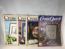 Lot of 4 Vtg 1980s Cross Stitch and Country Crafts and Premier Issue Cross Quick