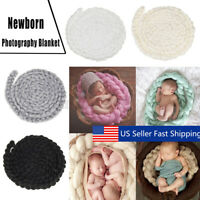 Handmade Newborn Baby Photography Photo Props Backdrop Wool Knitting