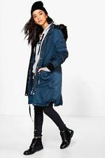 Boohoo Faux Fur Parka Coats & Jackets for Women