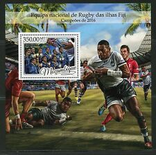 MOZAMBIQUE 2017  FIJI RUGBY SOUVENIR SHEET MINT NH