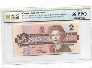 Canada/Bank of Canada Pick#94c 1986 $2 PCGS 66 PPQ