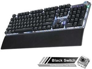 AULA F2088 Mechanical Gaming Keyboard Detachable Wrist Rest Multimedia Knob, 104