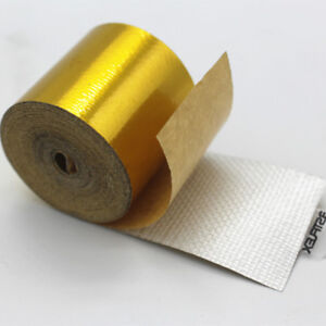 2''x15'' Gold Self Adhesive Reflective Roll Tape Heat Protection Shield Wrap NEW