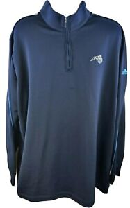 Orlando Magic Men's 1/4 Zip Athletic Basketball Pullover Sweater 4XT Adidas NBA