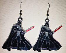 Darth Vader Star Wars Earrings Stainless  Hooks New Dark Side Lightsaber (B)