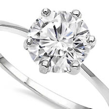 1.39 CARAT CREATED DIAMOND SOLITAIRE 14KT SOLID GOLD ENGAGEMENT RING