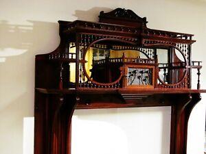 Antique Victorian Wood Fireplace Mantel Surround Architectural Salvage.