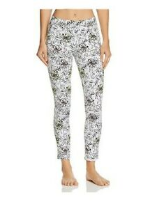HUE Serrano Floral Printed SKIMMER LEGGINGS White Size Small $40 -NWT