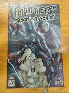 A FRIDAY THE 13TH JASON VS JASON X #2 VF/NM TERROR VARIANT AVATAR PRESS