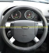VOLVO FAUX LEATHER STEERING WHEEL COVER BLACK