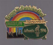 1996 Atlanta Happy St Patricks Day 1995 Pot Of Gold Olympic Pin
