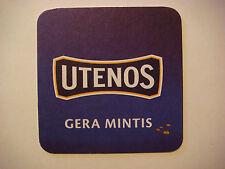 Beer Bar Coaster ~*~ Utenos Alus Brewery ~ Utena, Lithuania Brewery; Gera Mintis