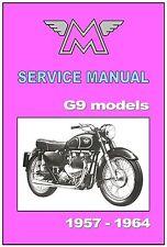 MATCHLESS Workshop Manual G9 G9CSR G9CS 1957 1958 1959 1960 1961 1962 1963 1964