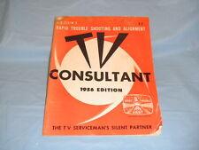 Vintage 1956 TV Consultant Serviceman Guide Book