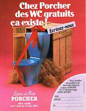 PUBLICITE ADVERTISING 034   1984   PORCHER   sanitaires wc