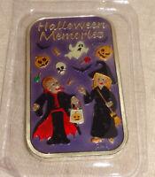 2015 Halloween Memories Enameled .999 Silver Art Bar Proof CMG Mint