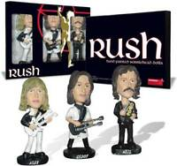 Rush Bobbleheads Alex Lifeson Geddy Lee Neil Peart Rock Metal Music Set 10310012