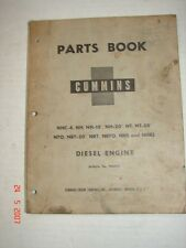 1956 Cummins Diesel Engine Parts Book Manual Bulletin 966692