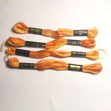 DMC 4 Écheveaux Coton Mouliné Couleur En Dégradé Orange Nº 51