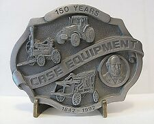 J I Case Equipment 150 Years 1992 Steam Engine Tractor Wagon Pewter Belt Buckle