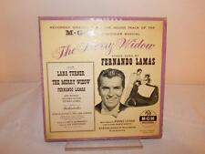 THE MERRY WIDOW Fernando Lamas MGM Musical 4 Records Vintage 45s Soundtrack Rare