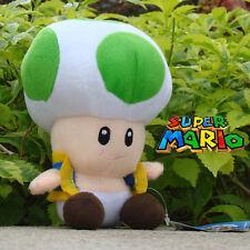 "Nintendo Game Green Toad 6.5"" Super Mario Run Plush Toy Stuffed Animal Doll Bros"