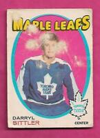 1971-72 OPC # 193 LEAFS DARRYL SITTLER FAIR  CARD (INV# J0228)
