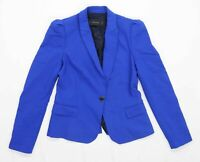 Zara Womens Size 8 Cotton Blend Blue Jacket