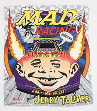 L * Nos in plastic vtg 90s Mad Magazine nhra jerry tolliver racing t shirt * M10