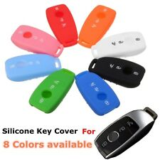 Silicone Rubber Remote Smart Key Cover Case For Mercedes Benz 2016 2017 E Class