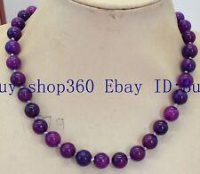"New Natural Africa 10mm Round Purple Sugilite Gemstone Necklace 18"""