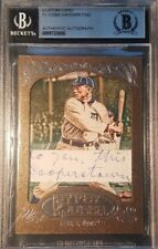 """Ty Cobb Handwriting Cut Letter Topps Gypsy Queen BAS Authentic """"Cooperstown"""""""