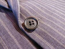TED BAKER Viscose Flax Brown Tan Stripe Half-Lined Jacket - Size 3